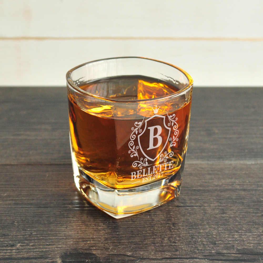 vaso de whisky - grabado laser